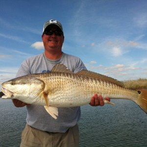 42 Lbs - 48 inch Redfish near Seadrift, TX