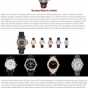 Luxury Watches New York